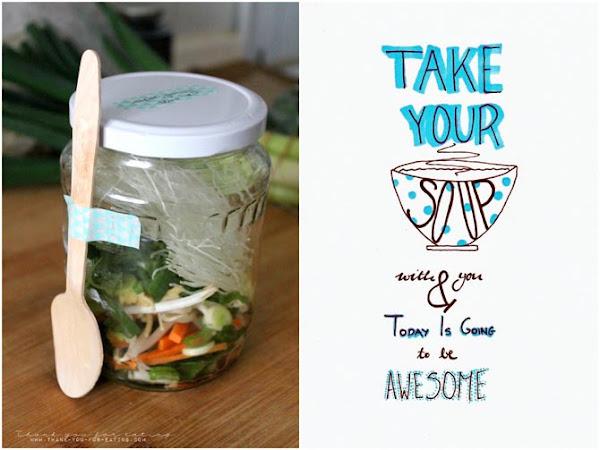 Homemade Vegan Instant Noodle Soup - fürs Büro und fürs Gewissen