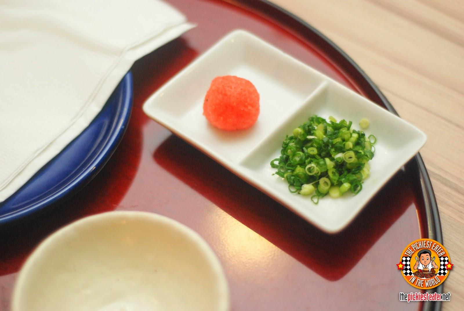 sauce radish and green onions