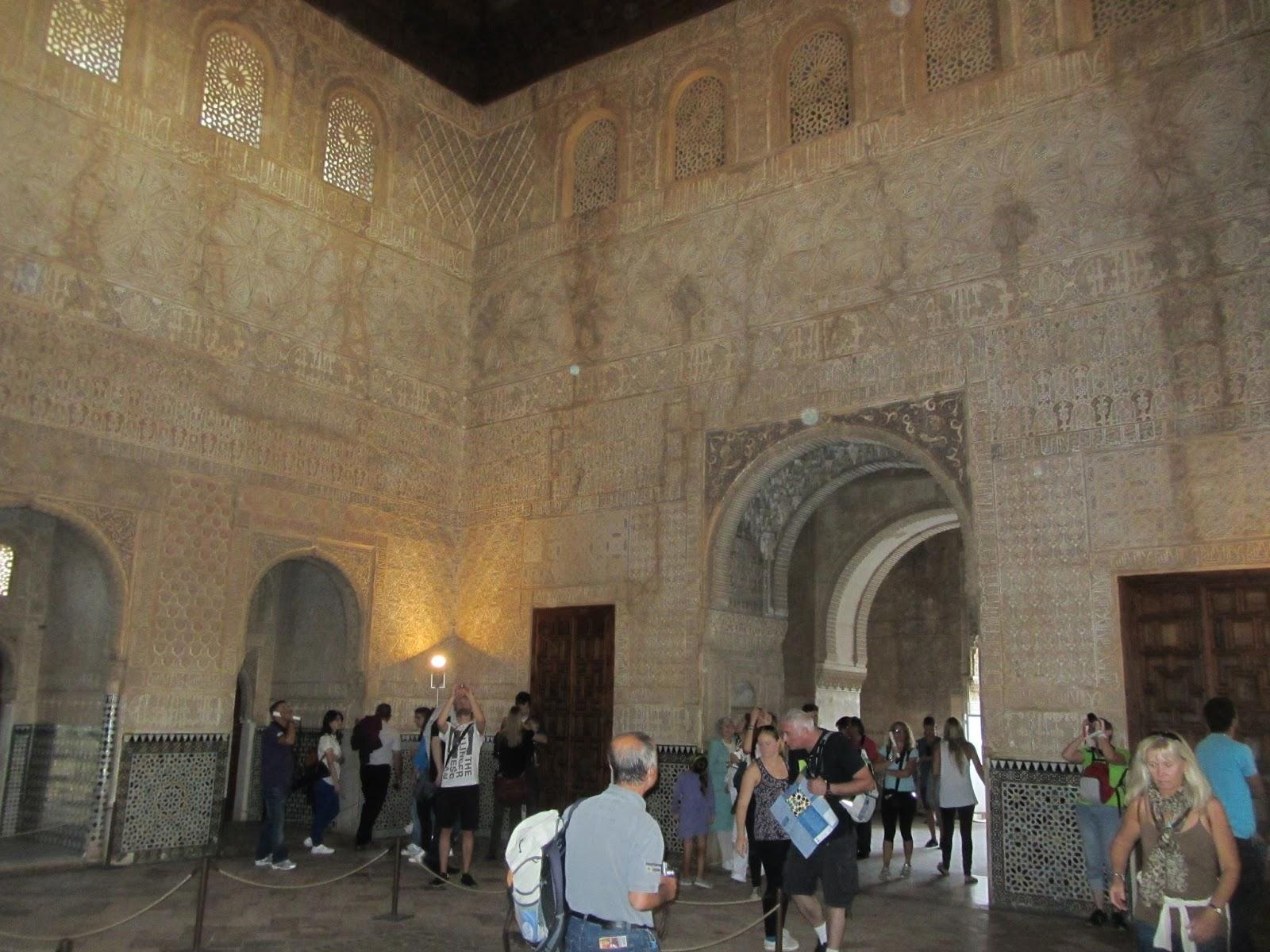 Sala de Comares, la más grande del Palacio.
