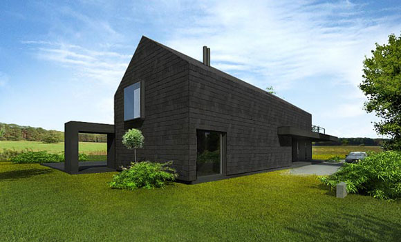 around homes black houses