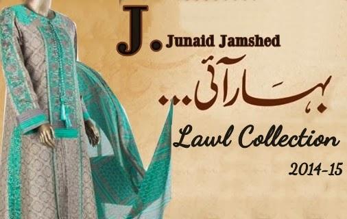 Junaid Jamshed Lawn 2014