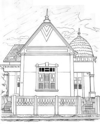 Desenhos Para Colori Esbolso de casa linda desenhar