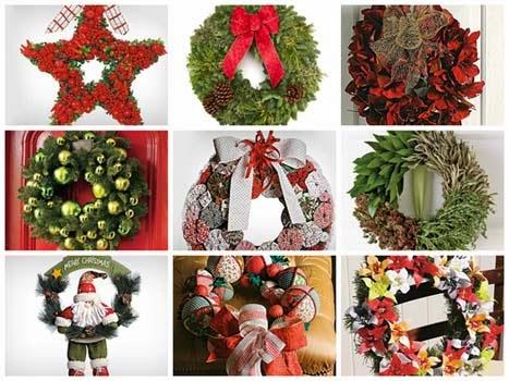 Fotos de guirlandas diferentes para o Natal