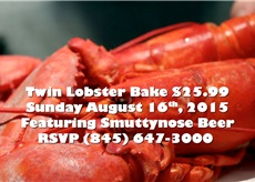 3rd Annual $25.99 Twin Lobsters & Smuttynose Beer | Sunday August 16th, 1pm to 5pm