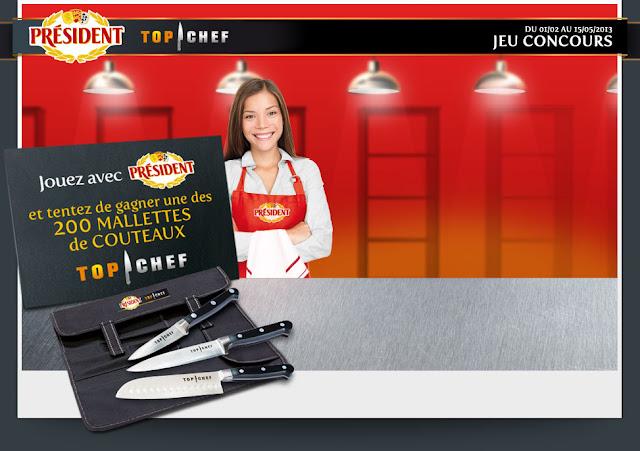 200 mallettes de 3 couteaux Top Chef Chroma