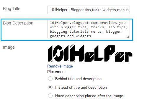 Description in Header | 101helper