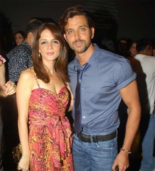 Suzanne and Hrithik Roshan - Romantic Bollywood couples