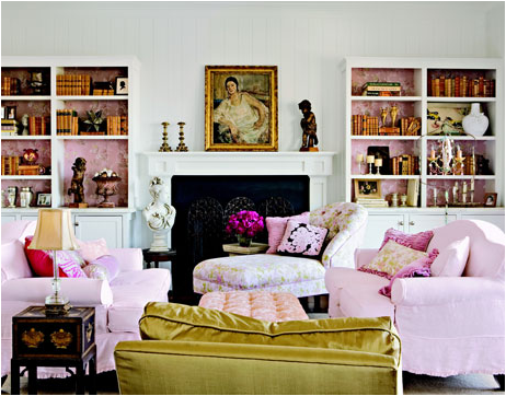 Romantic Style Living Room Design Ideas | Design Inspiration of ...