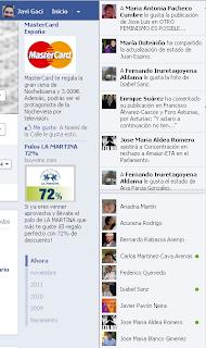 actividad reciente biografia facebook