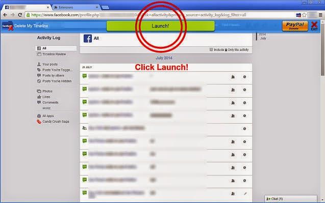 حذف منشورات الفيس بوك بكبسة زر