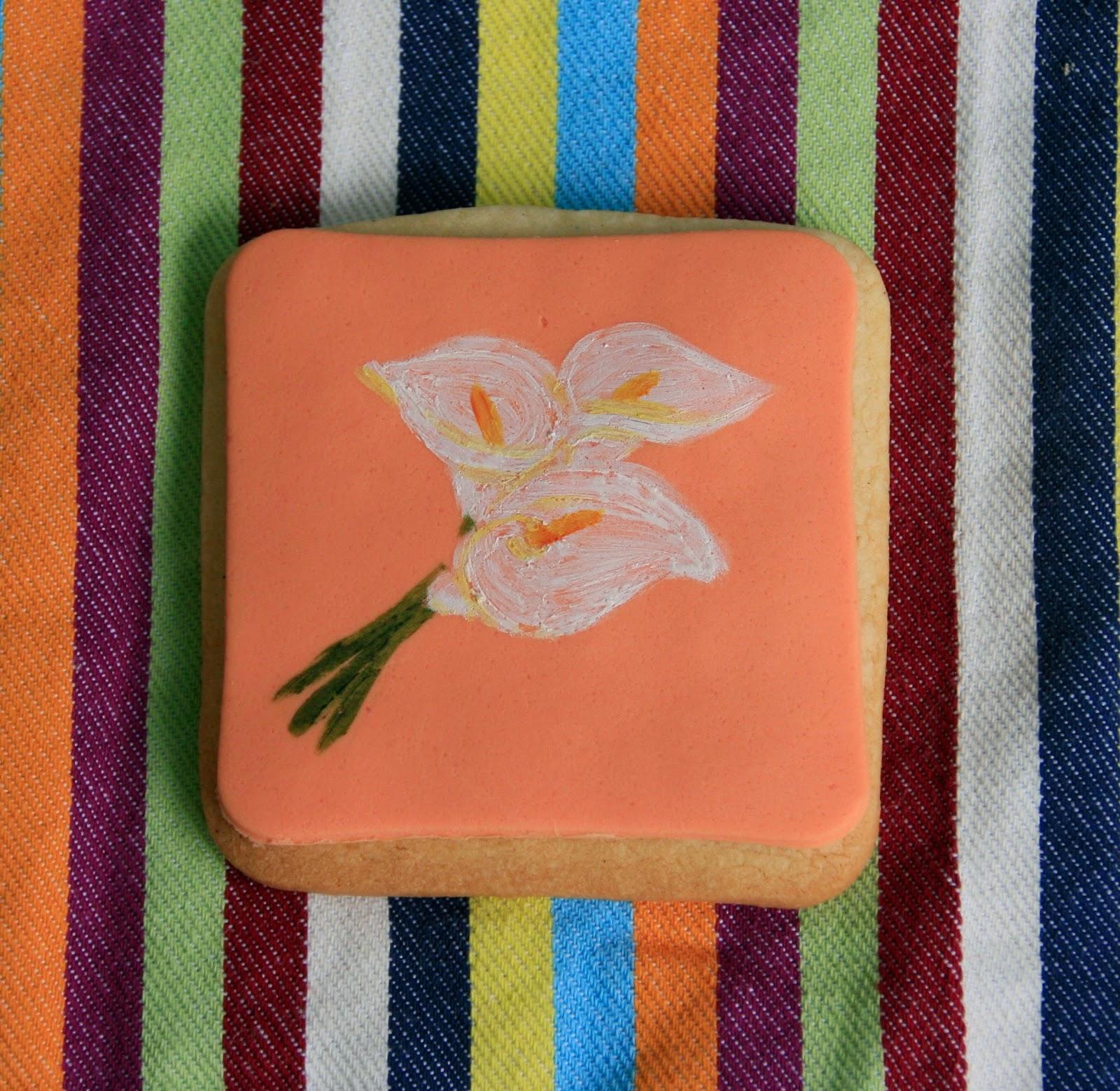 Galeta amb flors pintades a ma