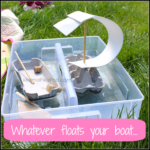 whatever floats your boat - making boats out of recyclables