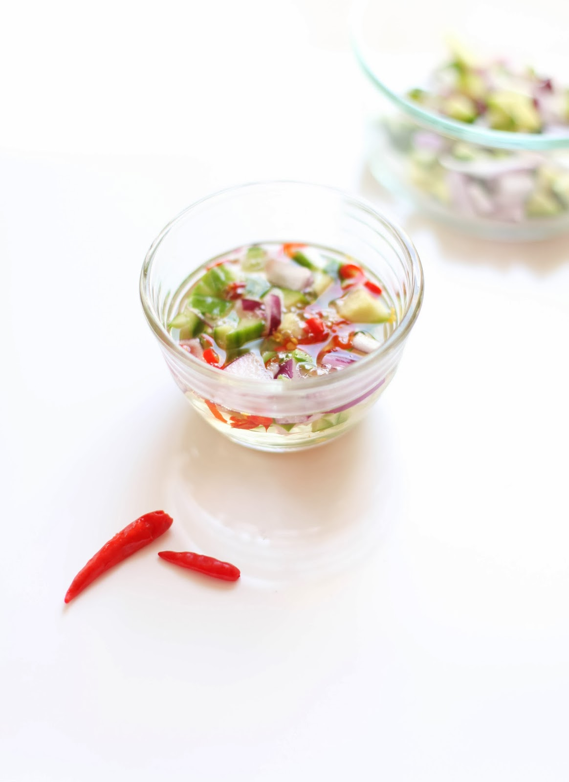 Homemade PIckled Thai Cucumber Relish | via Chandara Creative