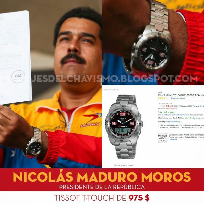 """Los Relojes del Chavismo: Nicolás Maduro con su Tissot T-Touch  """"anti-imperialista y profundamente socialista"""""""