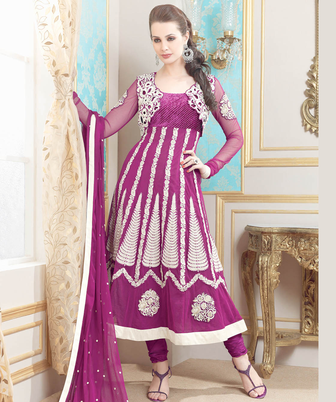 Salwar Suits Neck Designs 2014 for Wedding Photos Pics : Party Wear ...