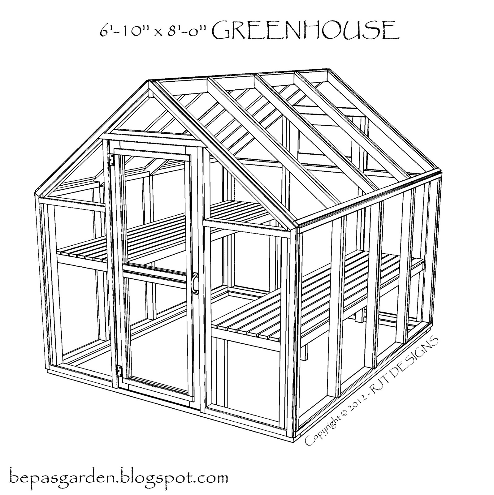 Bepa 39 s garden pdf version of greenhouse plans now available for Greenhouse floor plans