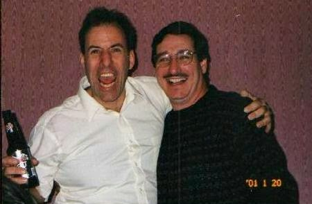 Tommy Mondello with pal Mike at my surprise 40th birthday party Jan 20, 2001