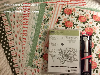Sneak Peek: Stampin' Up! 2016 Occasions Catalog: Birthday Bouquet Designer Paper + Birthday Blooms Stamp Set #stampinup