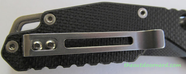 SanRenMu GB-763 Pocket Knife - Handle Closeup 2