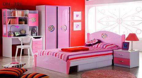 desain kamar tidur anak perempuan terbaru 2014 gambar