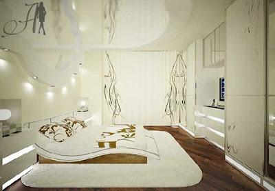 dormitorio moderno blanco y marrón