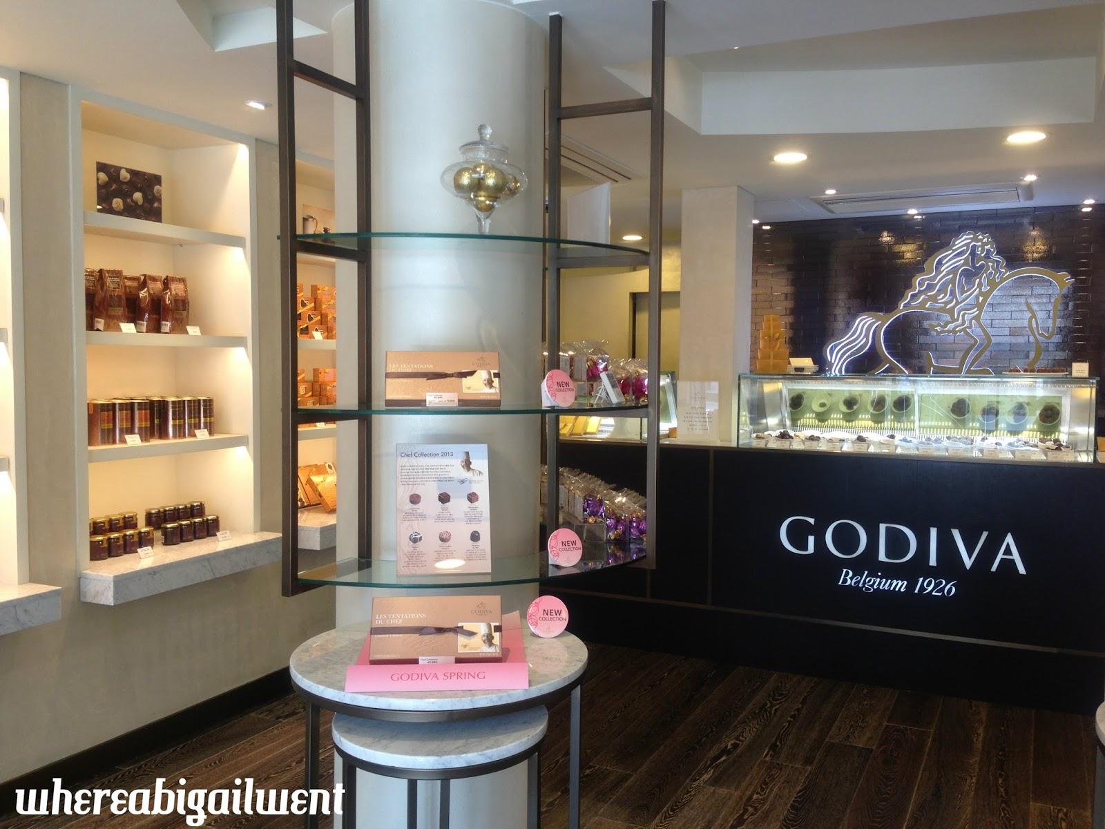 Tea and Snacks along Garosugil - Godiva Chocolates & VB Café ...