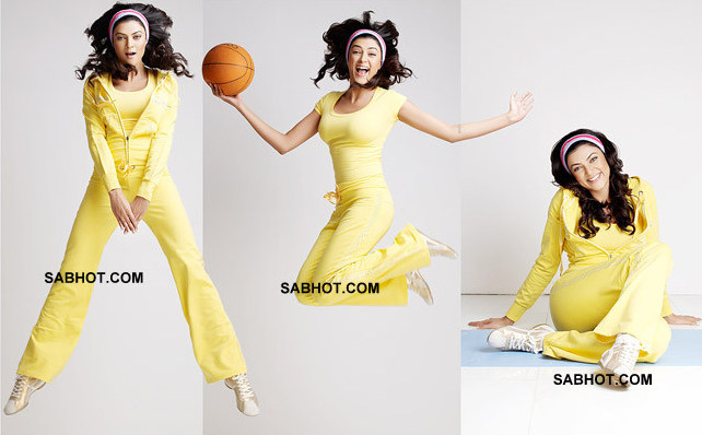 Sushmita proves she is still young and fit in this photoshoot where she is a sporty diva in yellow.  - sushmita sen in yellow workout outfit photoshoot
