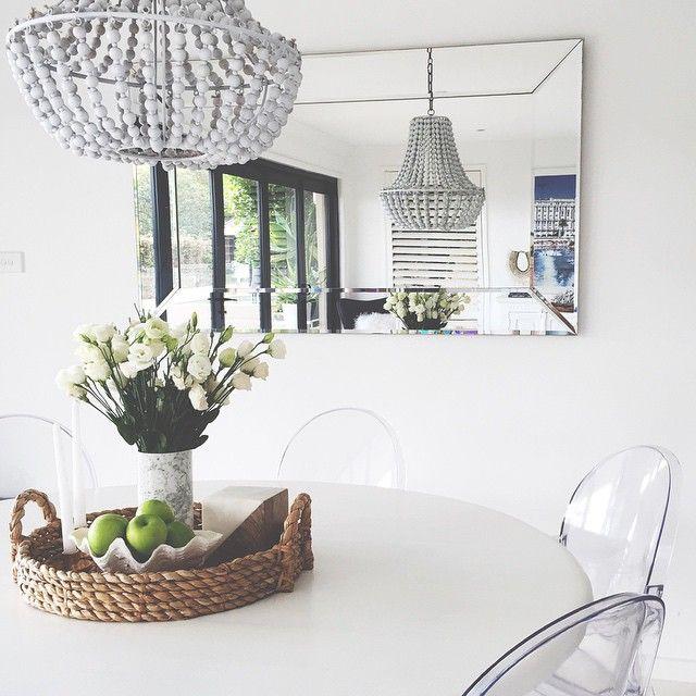 pellmell cr ations mon chouchou du moment le lustre en perles de bois. Black Bedroom Furniture Sets. Home Design Ideas