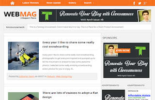WebMag Free Premium Blogger Template