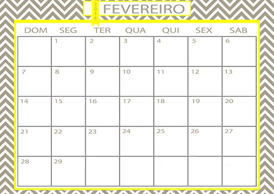calendário fevereiro, folhinha, calendário