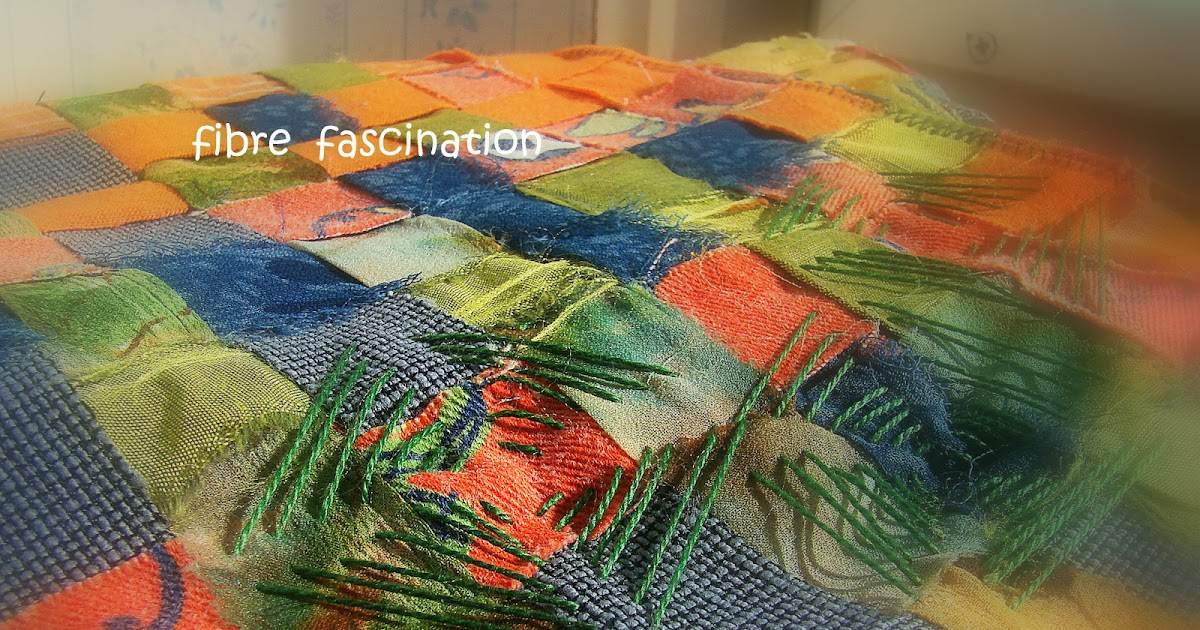 Fibre fascination stitched woven fabric strips make for Space fabric nz
