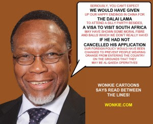 Kgalema Motlanthe on Dalai Lama cartoon