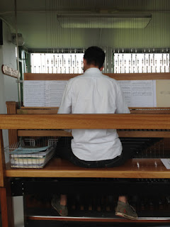 Patrick playing the Carillon.