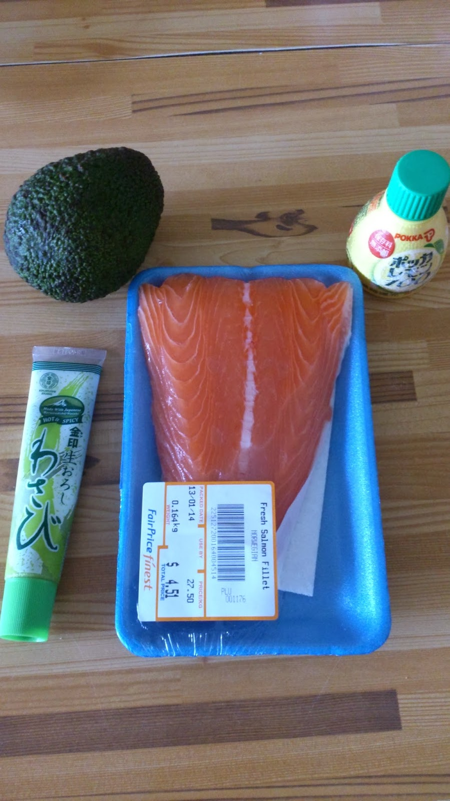 Avocado Salmon Wasabi Lemon