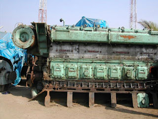 used spare parts, Yanmar 8Z ET, second hand, crankshaft, reconditioned spare parts, complete generator