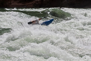 Austin Nickle making his way into Horn Creek , grand canyon colorado, Chris Baer