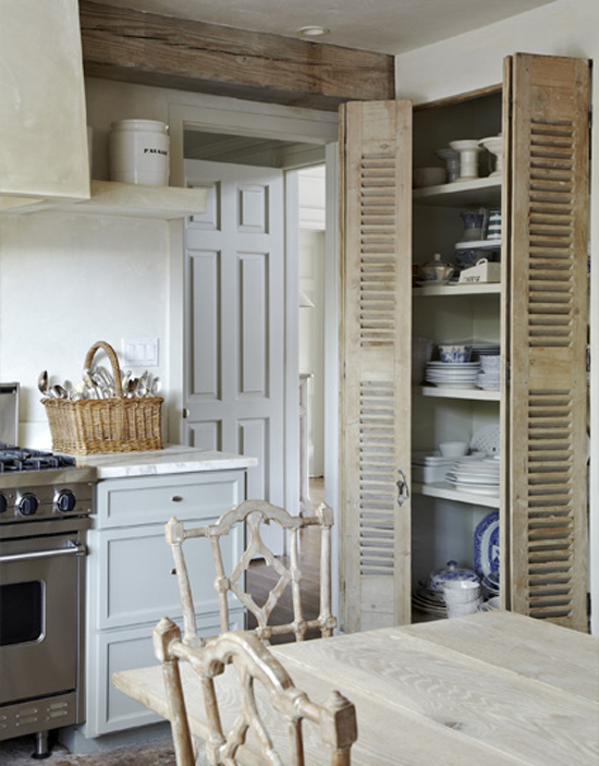 Rustic Kitchen Storage