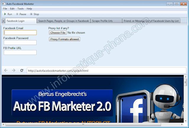 تحميل برنامج التسويق الإلكتروني Auto Facebook Marketer