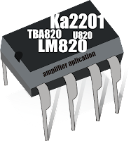 TBA820 , KA2201 , LM820 , U820 amplifier