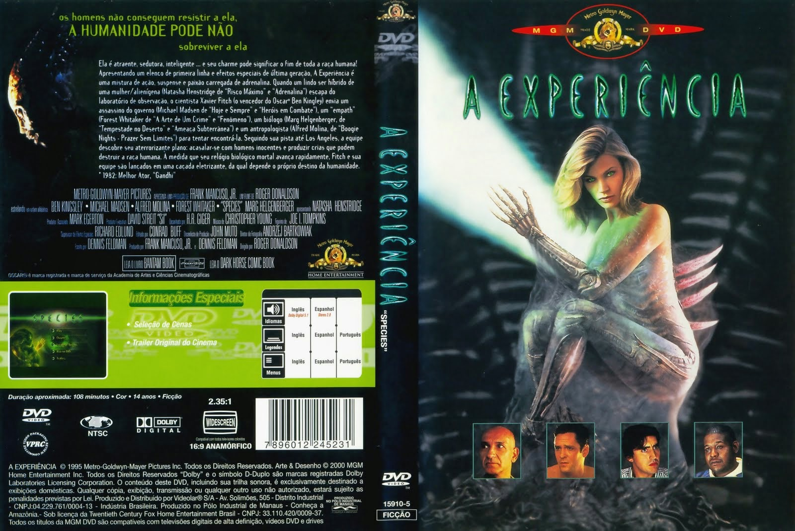 A Experiência DVD Capa