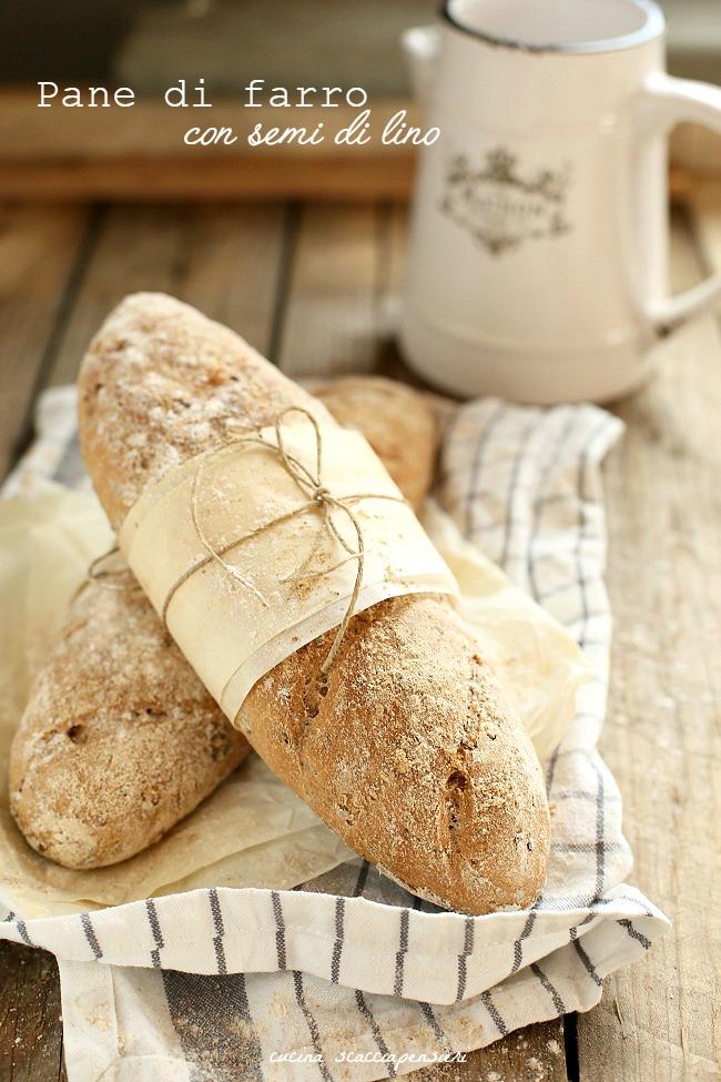 baguette al farro con semi di lino
