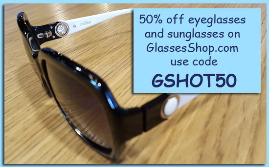 Use GSHOT50 code to get 50% off at GlassesShop.com