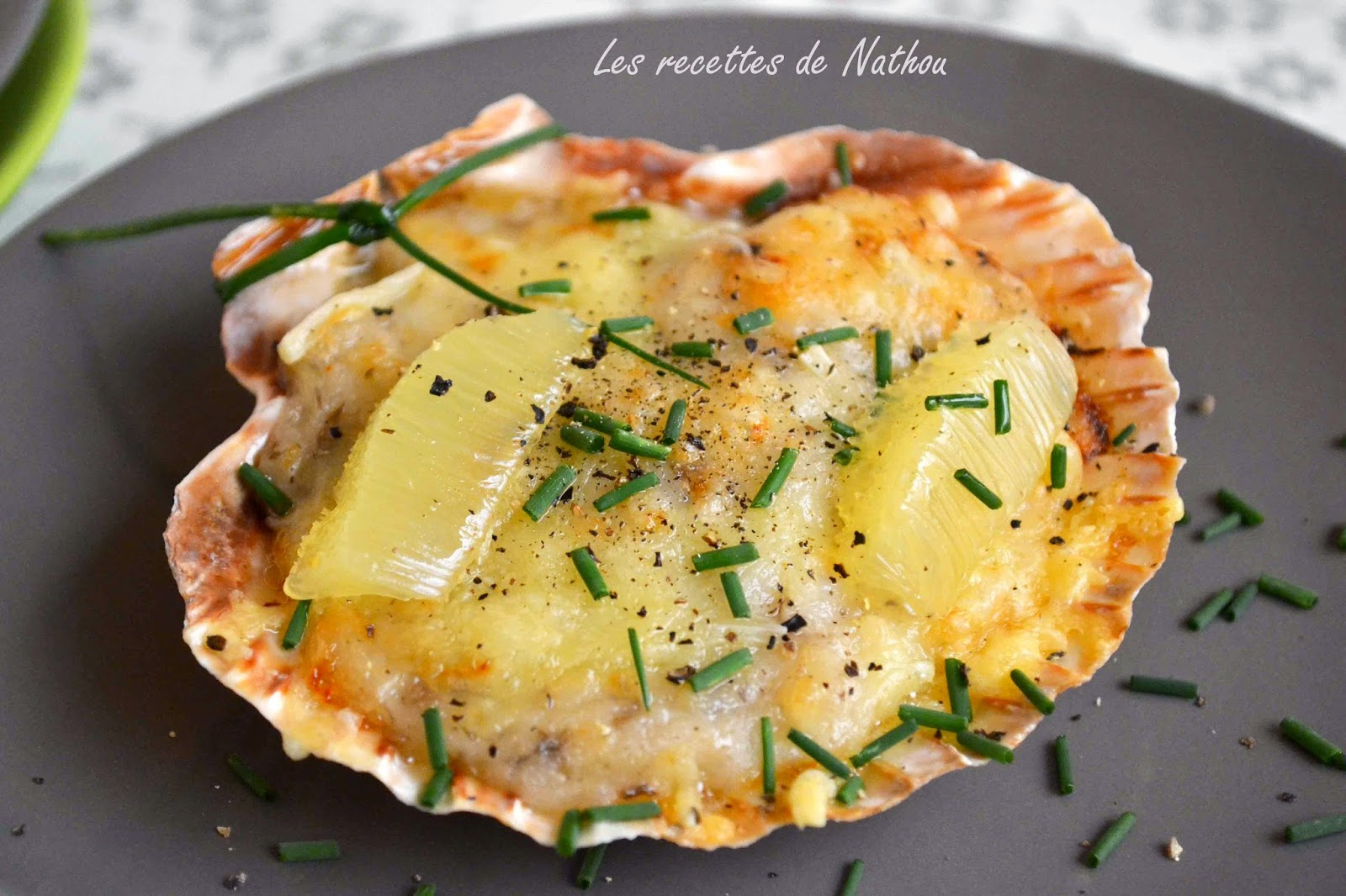 Les recettes de Nathou: Coquilles St Jacques gratinées