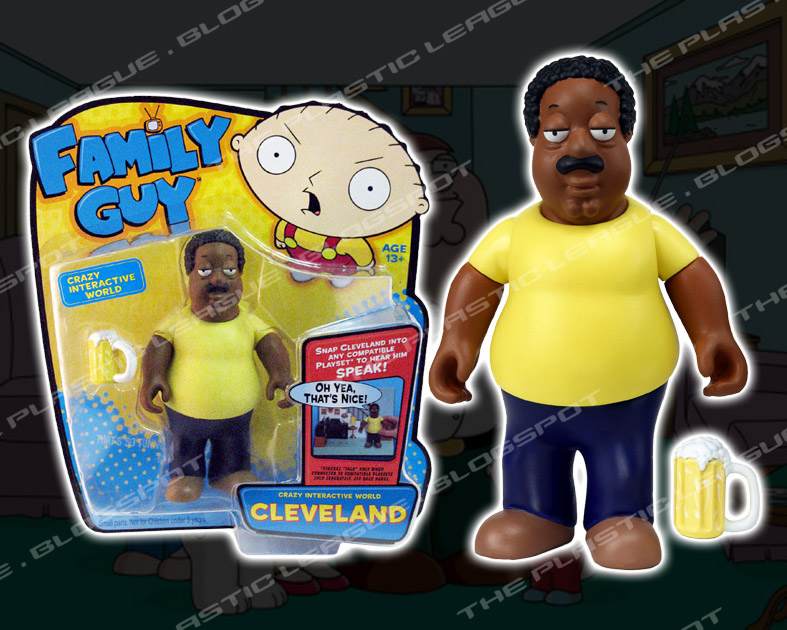 "Cleveland Family Guy Toys : The plastic league family guy ""serie por playmates toys"