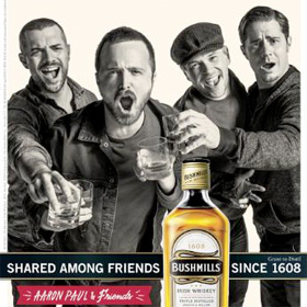 Bushmills Irish Whiskey welcomes 'Breaking Bad' star actor Aaron Paul (VIDEO)
