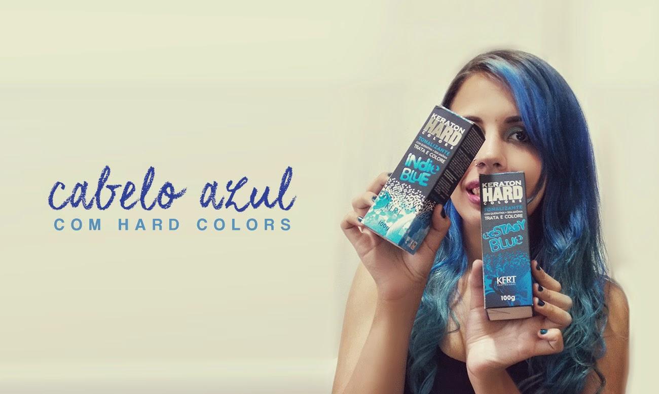 cabelo azul hard colors