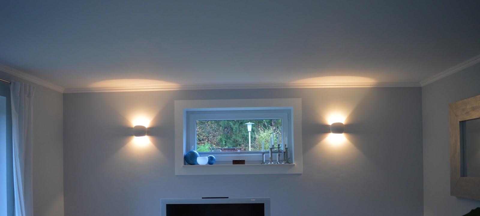 heim elich wohnzimmer wandlampen update. Black Bedroom Furniture Sets. Home Design Ideas