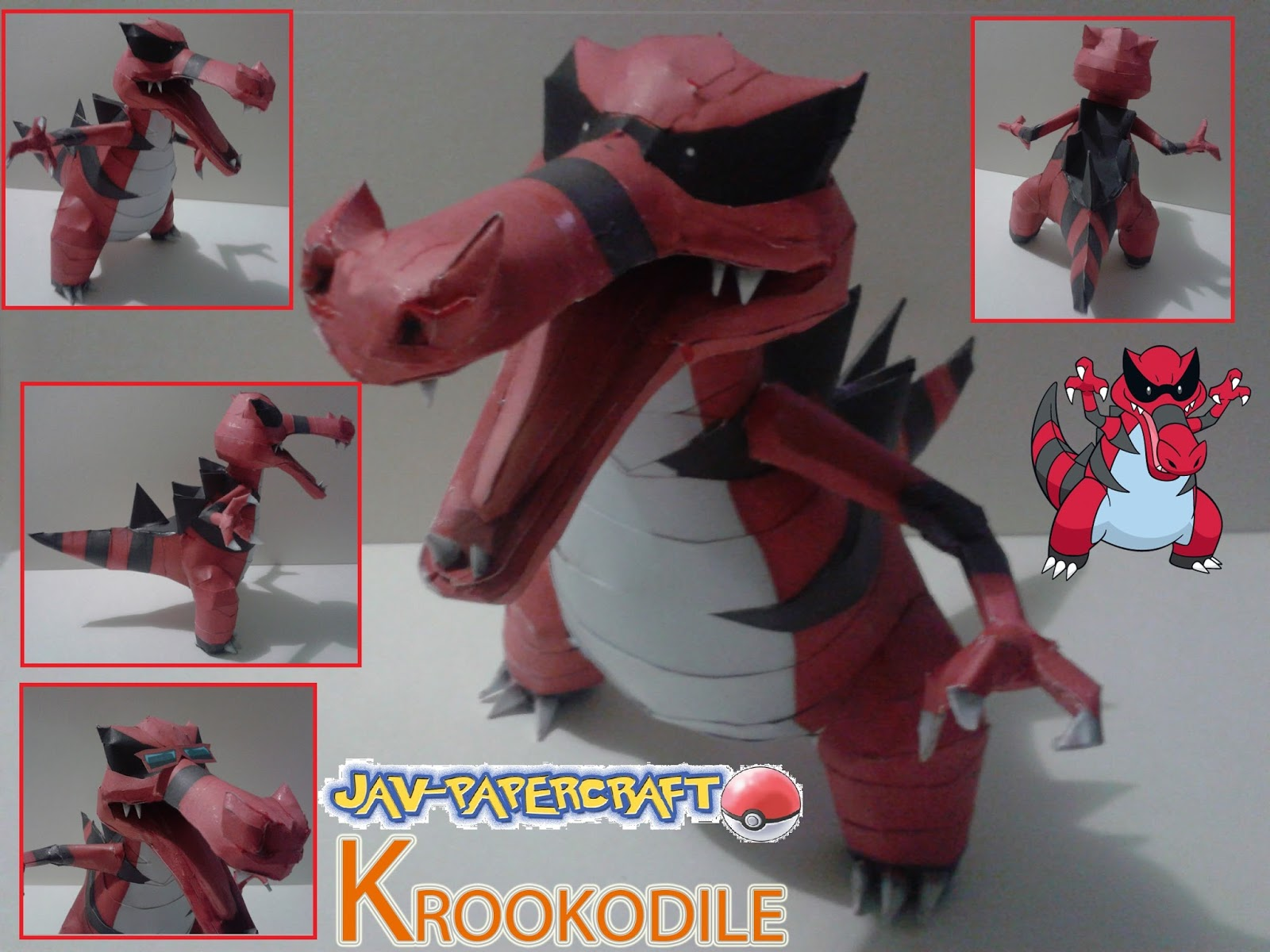 Pokemon Krookodile Papercraft