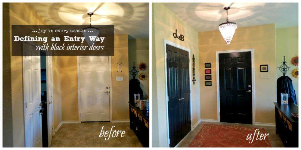 Paint It Black Defining An Entryway Door With Paint Joy In