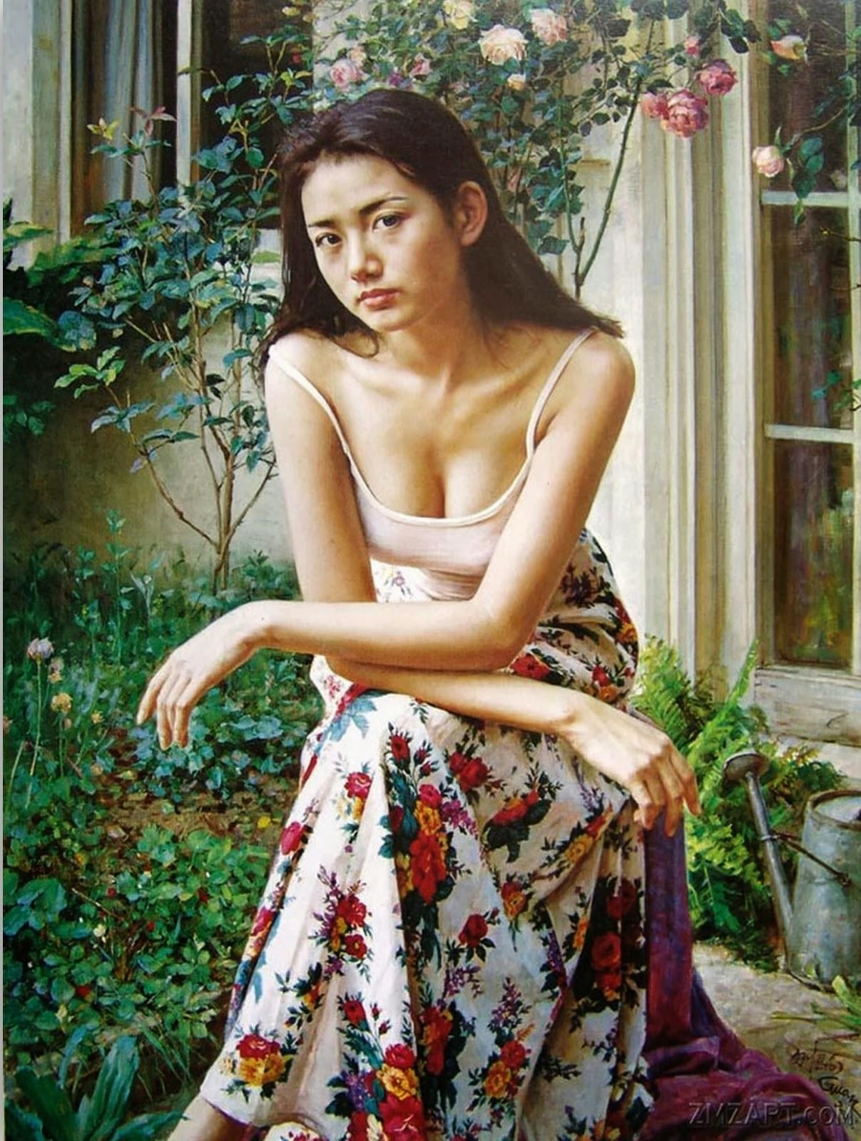 mujeres-chinas-pinturas-al-oleo